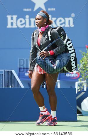 Sixteen times Grand Slam champion Serena Williams at Billie Jean King National Tennis Center