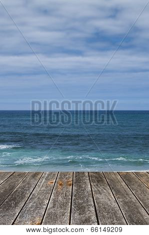 Sea And Wooden Platform