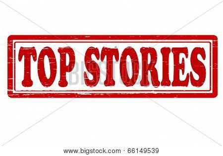 Stamp with text top stories inside vector illustration