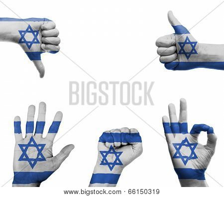 Hand Set With The Flag Of Israel