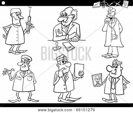 Medical Staff Set Coloring Book