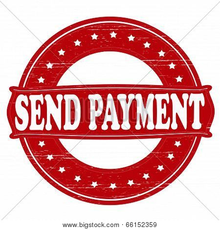 Stamp with text send payment inside vector illustration