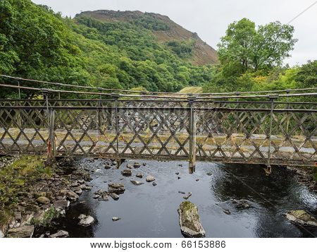 Metal bridge in Elan Valley, Wales