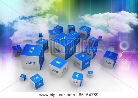 Dot com domain in cubes