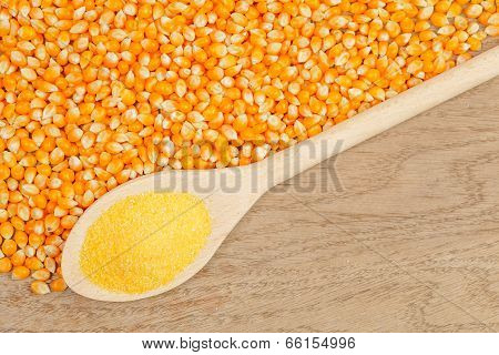 Spoon With Corn Grain
