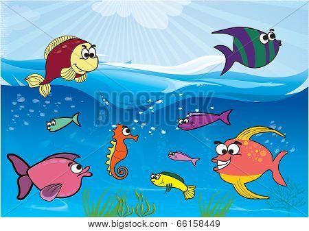 Cartoon Sea Theme - vector illustration2