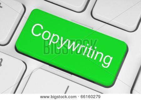 Green copywriting button