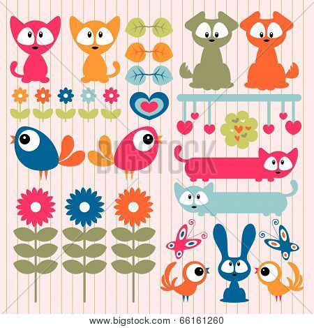 Scrapbook Elements Cute Animals