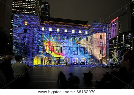 Play Me On Historic Customs House Sydney Australia During Vivid Sydney