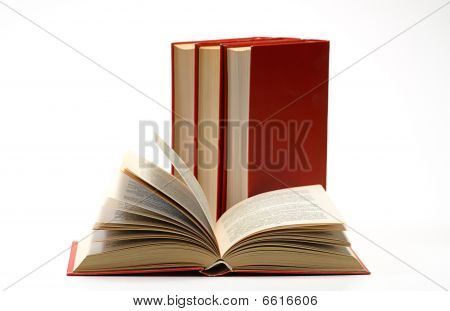 Stack Book On White Isolated