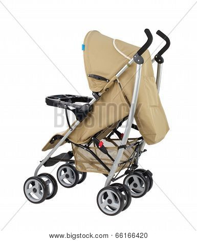 A Modern Pram Isolated On White