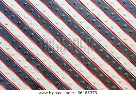 Wooden Panel With A Slanting Striped Pattern