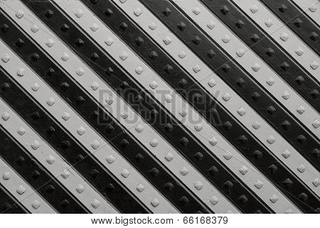 Panel With  Black Gray Slanting Striped Pattern