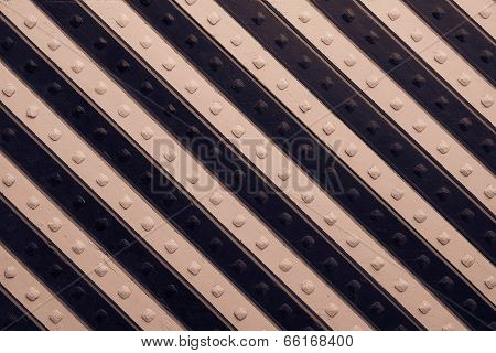 Panel With Black Brown Slanting Striped Pattern