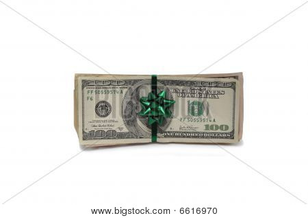 Money Wrapped in a Green Bow