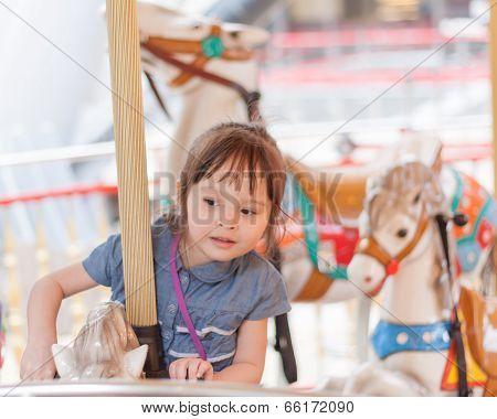 Girl On A Carousel