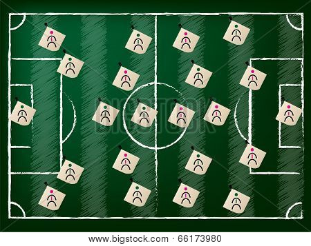 Football Field Illustration With 2 Teams