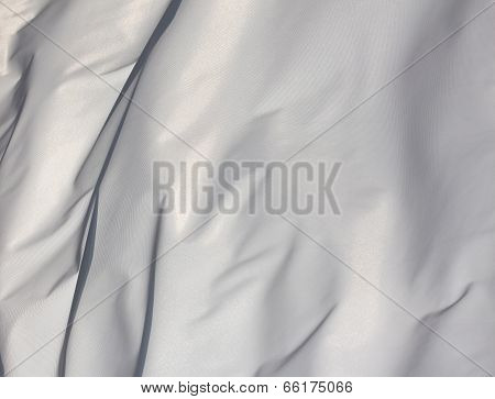 White Fabric In Wind In The Sunlight