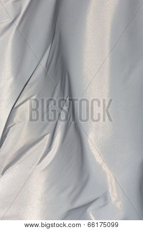 White Fabric In The Wind In Sunlight
