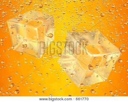 Ice Cubes Orange