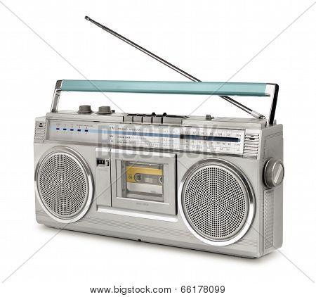 Eighties Vintage Radio Cassette Player