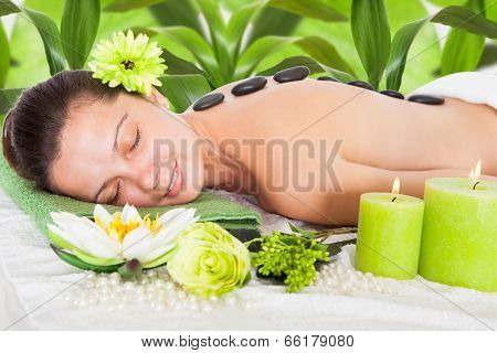Woman Getting Lastone Massage