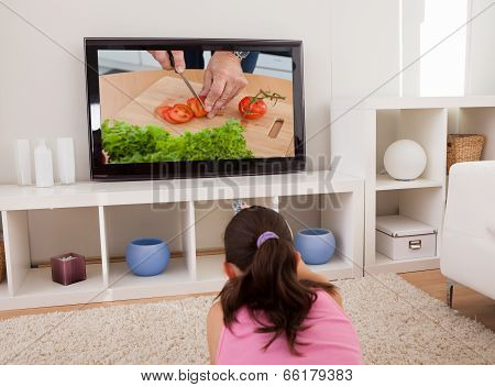 Woman Watching Television