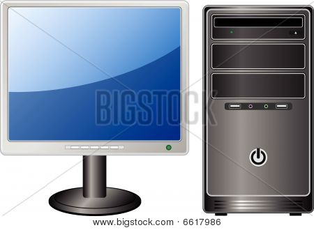 Tft Monitor And Pc