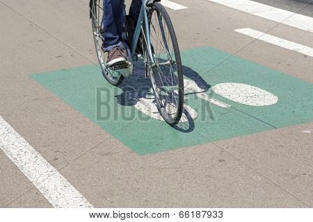 Cyclist Ride The Bike Path