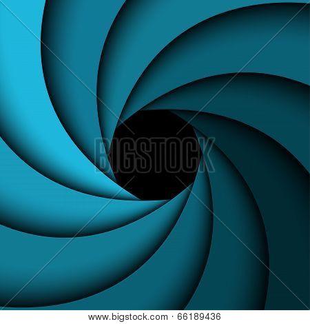 Abstract background blue rainbow swirl