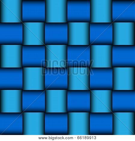 Modern glossy blue mosaic