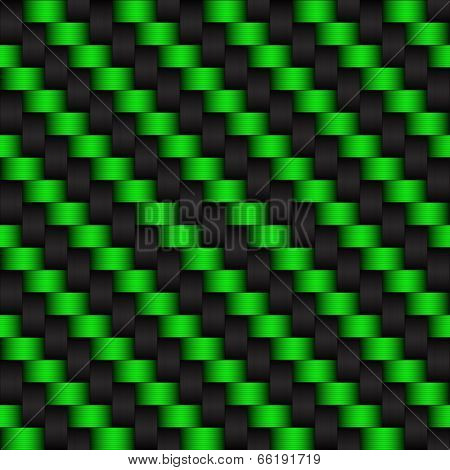 Black and green abstract background carbon look