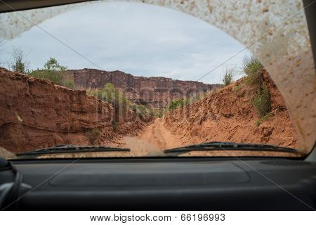 Off Road Vehicle In The Canyon