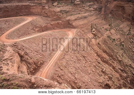 Mineral Bottom Switchbacks Dirt Road