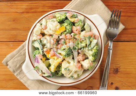 Vegetable Caesar Salad