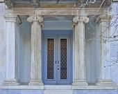 stock photo of neo-classic  - elegant neo classical house entrance - JPG