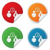 image of borrower  - Bank loans sign icon - JPG
