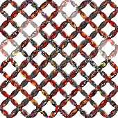 stock photo of terrazzo  - Ornate seamless texture in the form of a patterned grid - JPG