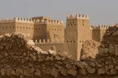 Historic desert fort poster