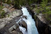 stock photo of beartooth  - Waterfall on Clark - JPG