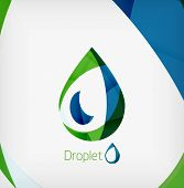 foto of teardrop  - Flat water drop geometric shape concept - JPG