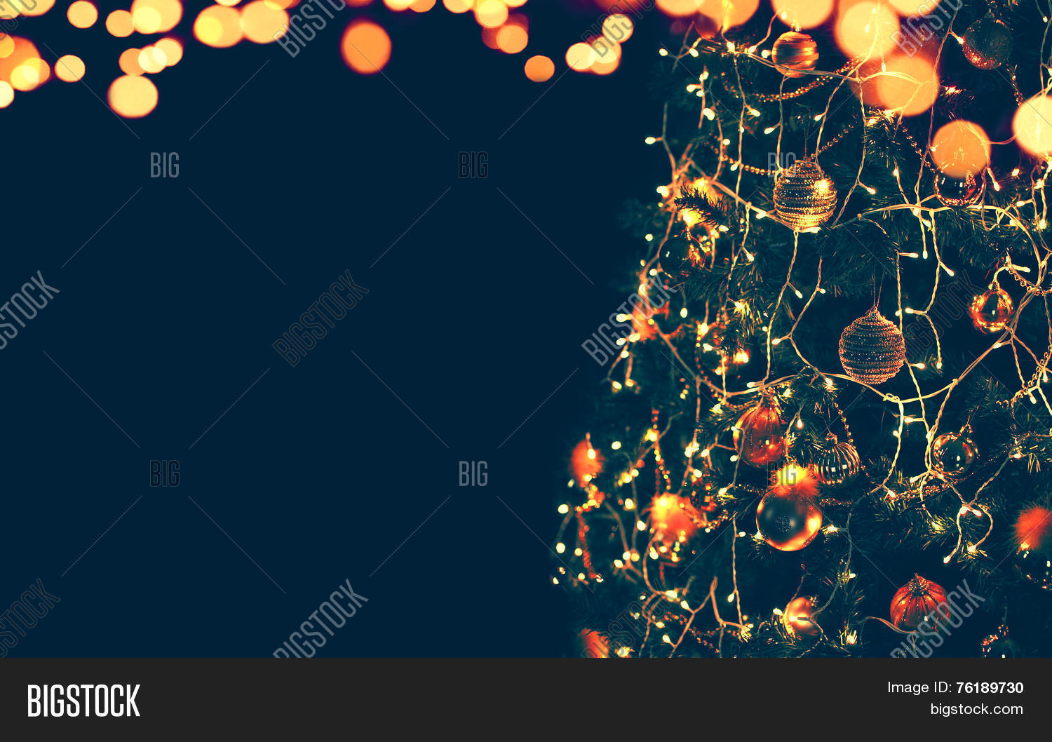 Magic Christmas Tree Lights Bokeh Image Photo Bigstock - Magic Christmas Tree