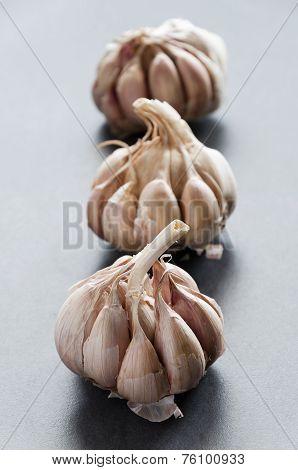Cloves Of Garlic In A Row