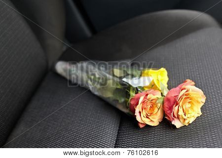 Flower on the next seat, bringing it home