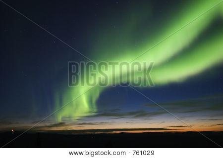 Twilight With Auroral Arc