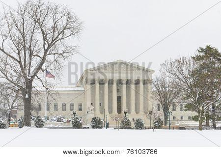 Washington DC in winter - Supreme Court Building
