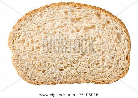 slice of bread isolated on a white background