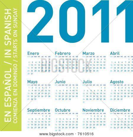 Blue Calendar 2011 (Spanish)