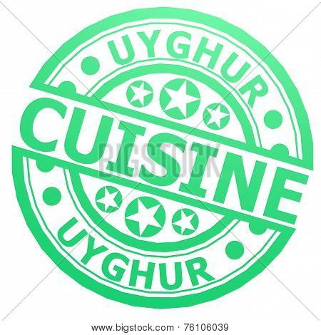 Uyghur Cuisine Stamp