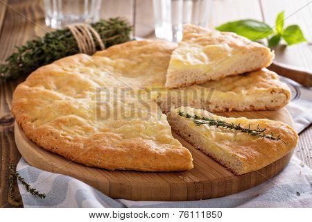 Traditional flatbread with potato filling